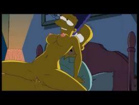 הומר מזיין את מארג' חזק וגומר לה בכוס ועל הפנים